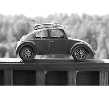 Beach Car Model with Surfboards Photographic Print