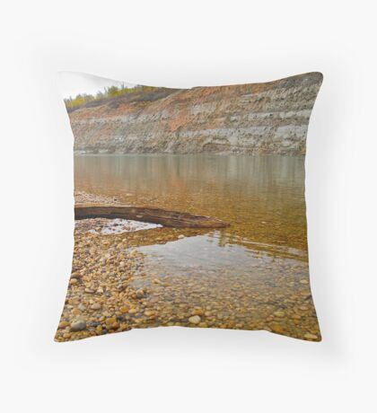 Autumn Afternoon - North Saskatchewan River Throw Pillow