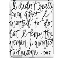 DVF QUOTE iPad Case/Skin