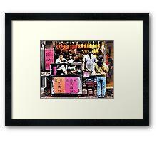 serious sells...fantastic Peking duck... Framed Print