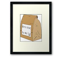 DEAD DOVE- Do Not Eat Framed Print