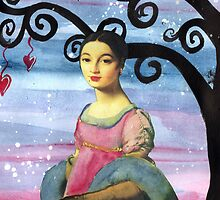 Mademoiselle Caroline Riviere Dreams of Love on a Starry Night by klbailey