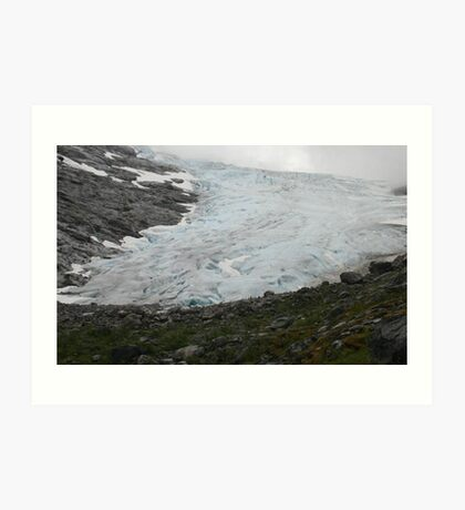 Glacier near Olden Norway Art Print