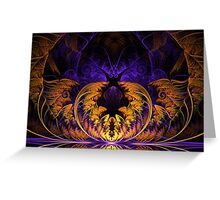 Halloween Fractal Greeting Card