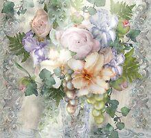 Blue Mood Paisley, Still life by Alma Lee by Alma Lee