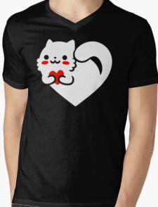 Sweet Cat Mens V-Neck T-Shirt