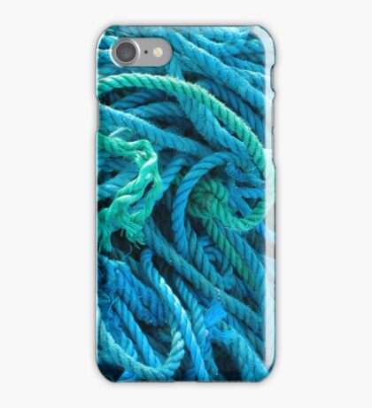 iPhone Case - Meandering Blue Rope iPhone Case/Skin
