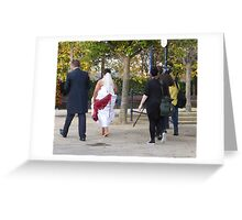 One Bride, One Groom And Three Photographers!! Greeting Card