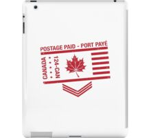 Postage Paid Canada iPad Case/Skin