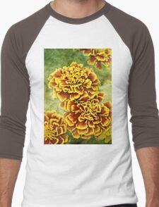 Golden Blossoms Men's Baseball ¾ T-Shirt