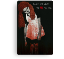 Zombie Greeting Card Canvas Print
