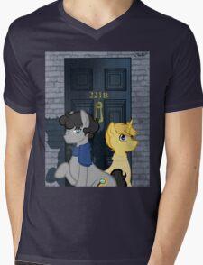 The Adventures of Sherlock Hooves: 221B Mens V-Neck T-Shirt