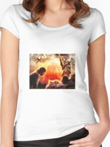 """""""The Nativity"""" Women's Fitted Scoop T-Shirt"""