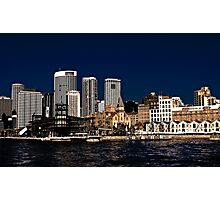 Old vs New - The Rocks - Sydney Cove Photographic Print