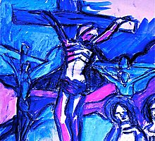 Crucifixion of Jesus  by vickimec