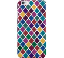 Moroccan Pattern - Jewel Tones (White Back) iPhone Case/Skin