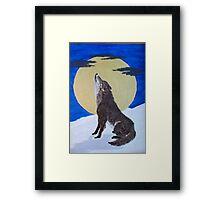 Singing in The Moonlight Framed Print
