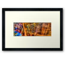 Comic Frenzy - Kinetic Abstract Framed Print
