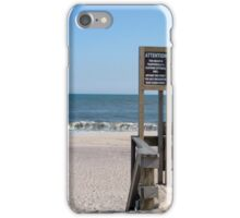 Nude Beach Sign iPhone Case/Skin