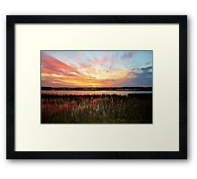Sunset And Reflections Framed Print