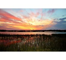Sunset And Reflections Photographic Print