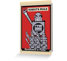 Robot Poster  Greeting Card