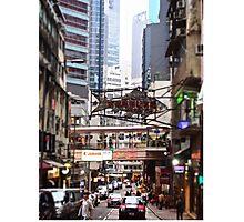 a flying fish in Soho Hong Kong Photographic Print