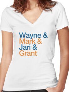 Wayne & Mark & Jari & Grant Women's Fitted V-Neck T-Shirt