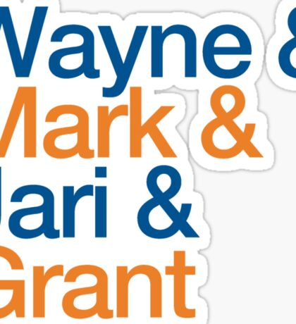 Wayne & Mark & Jari & Grant Sticker
