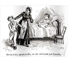 Achille Sirouy Mark Twain Les Aventures de Huck Huckleberry Finn illustration p278 Poster