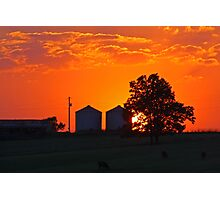 Sunset over the Farm Photographic Print