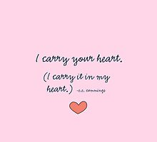 I carry your heart by acarpenter