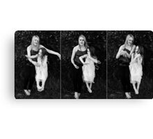 when doves dance Canvas Print