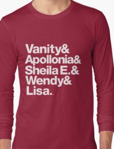 Prince Protégés Apollonia & Carmen Electra Helvetica Threads Long Sleeve T-Shirt