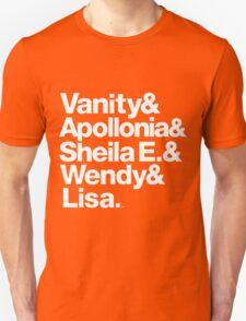 Prince Protégés Apollonia & Carmen Electra Helvetica Threads Unisex T-Shirt