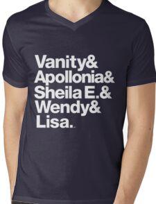 Prince Protégés Apollonia & Carmen Electra Helvetica Threads Mens V-Neck T-Shirt