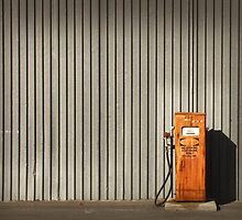 rusty petrol pump by Susan Segal