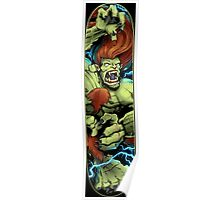 Blanka Street Fighter Skate Deck Poster