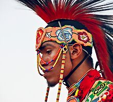 Young Pow Wow Dancer by Heather Friedman
