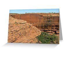 Kings Canyon Walls Greeting Card