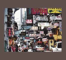 busy streets of Hong Kong, it's loud, it's colourful, it's life Baby Tee