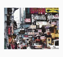 busy streets of Hong Kong, it's loud, it's colourful, it's life Kids Clothes