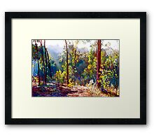 A Sparkly Bush Morning Framed Print