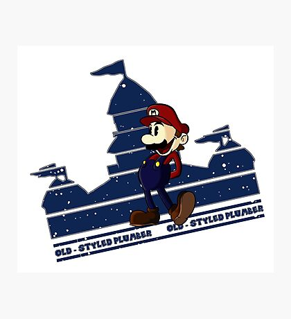 Old-Styled Mario Photographic Print