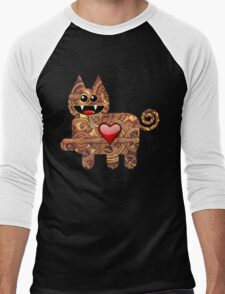 KITTEN 2/6 Men's Baseball ¾ T-Shirt
