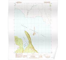USGS Topo Map Oregon Shoalwater Bay 281487 1985 24000 Poster