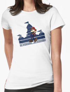 Old-Styled Mario Womens Fitted T-Shirt