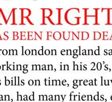 """BREAKING NEWS   """"mr right is dead"""" Sticker"""