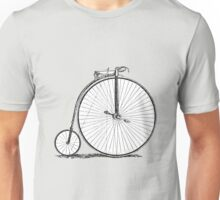 Bicycle Vintage High Wheeler Victorian Penny Farthing Cycle Biking		 Unisex T-Shirt