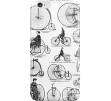 Bicycle Vintage High Wheeler Victorian Penny Farthing Cycle Biking		 iPhone Case/Skin